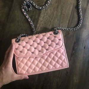 Rebecca Minkoff pink studded crossbody bag